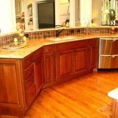 Kitchen Remodel with Dark Cherry Cabinets by Hatchett Design/Remodel