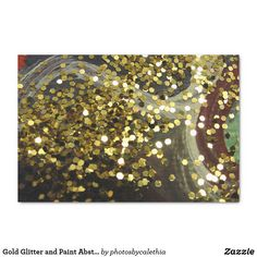 Gold Glitter and Paint Abstract Photograph Tissue Paper by Zazzle designer Calethia Baker. #zazzle #artsupplies #artandcrafts #glitter #tissuepaper