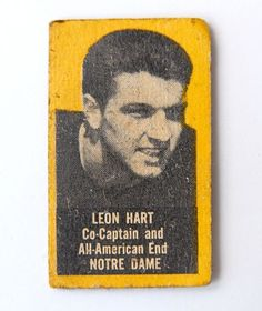 1950-Topps-feltback-football-card-Leon-Hart-Notre-Dame-yellow