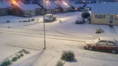 Snow has swept across parts of the UK, with many people in south-east England seeing their first fall of the season.