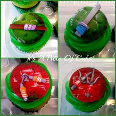 -  TMNT themed cupcake toppers