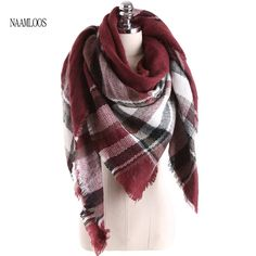 5c333045e 2017 Fashion Brand Big Square Scarf For Women Cashmere Winter Warm New  Designer Shawls Soft Plaid Blankets Size 140cmx140cm-in Scarves from Women's  Clothing ...