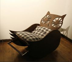I love this owl rocking chair! Pinned by www.myowlbarn.com