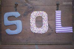 Cómo hacer letras decorativas con tela