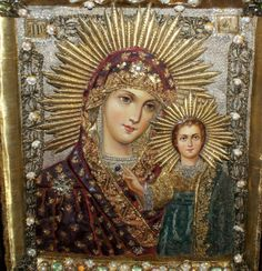 Antique Russian Icon Embroidered Beaded, 19 c | eBay