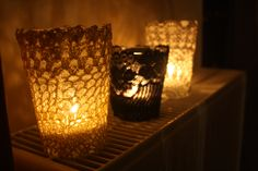 Lace candlesticks for the intimate moments
