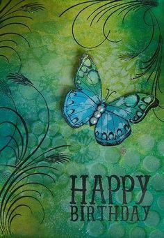 Happy Birthday - butterfly
