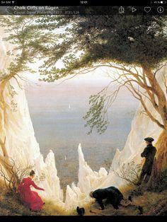 8. Acantilados blancos en Rügen. Friedrich.1818.