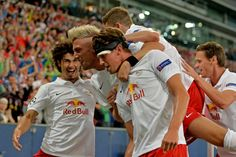19. August 2014 | Champions League Play-off against Malmö FF. André Ramalho, Kevin Kampl, Fränky Schiemer und Christoph Leitgeb. Champions League, Fc Red Bull Salzburg, August 2014, Couple Photos, Couples, Sports, Play, Game, Couple Shots