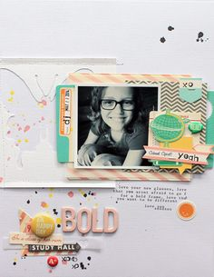 #papercraft #Scrapbook #layout. Bold by MelBlackburn at @studio_calico