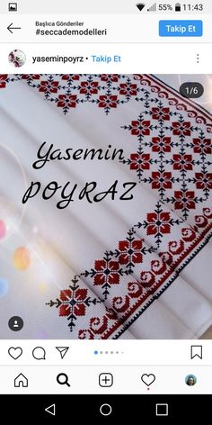 Palestinian Embroidery, Crochet Bedspread, Crochet Leaves, Cross Stitching, Cross Stitch Patterns, Projects To Try, Tablecloths, Sewing, Floral