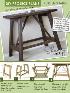 I want to make this!  DIY Furniture Plan from Ana-White.com  Build this end table! DIY this end table with free plans from Ana White!