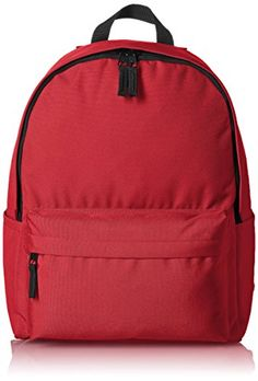 Cheap, and it comes in a bunch of colors. AmazonBasics Classic Backpack - Red AmazonBasics