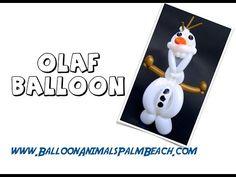 How To Make An Olaf Balloon - Balloon Animals Palm Beach - YouTube