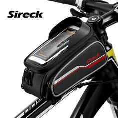 "Sireck Bicycle Bags 2017 Front Tube Top Bags MTB Bike Bags 6"" Phone Touchscreen Bicycle Top Front Frame Cycling Bags Accessories"