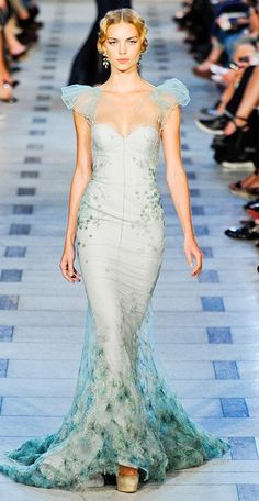 Not usually one to admire runways or their Nazi-like standards, but a gown inspired by mermaids is unbelievable