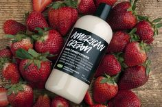 American Cream conditioner: made with real strawberries!
