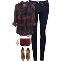 Navy & deep red by steffiestaffie on Polyvore featuring polyvore, fashion, style, rag & bone/JEAN, H&M, Michael Kors, Majorica and clothing