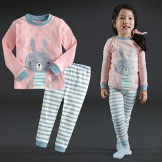 Vaenait-Baby-Infant-Toddler-Kids-Girls-Clothes-Pajama-Set-Pink-Bunny-12M-7T