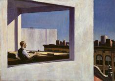 Edward Hopper homme à la fenêtre www.montableau.com