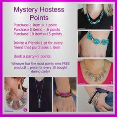 Paparazzi Mystery Hostess Party Points! :) www.dreasjewelry.com