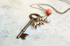Fairytales Necklace  shabby chic bohemian by verarodrigues on Etsy, $18.00