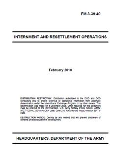 Restricted U.S. Army Internment and Resettlement Operations Manual | Public Intelligence