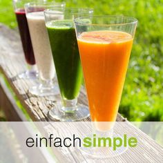 Smoothies www.einfach-simple.at Smoothies, Pint Glass, Cantaloupe, Beer, Fruit, Cooking, Simple, Tableware, Food