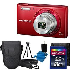 Olympus Stylus VG-180 16-Megapixel 5X 26mm Wide Optical Zoom 2.7 Inch LCD - RED With Case + 16GB SD Card Accessory Kit - http://frequentcamera.com/camera-photo-video/digital-cameras/point-shoot-digital-camera-bundles/olympus-stylus-vg180-16megapixel-5x-26mm-wide-optical-zoom-27-inch-lcd-red-with-case-16gb-sd-card-accessory-kit-com/