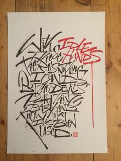 Luca Barcellona - Calligraphy - personal free hand writing