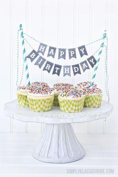 Toppers para tartas de cumpleaños                                                                                                                                                      Más