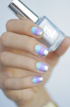 Mint, silver and lavender
