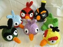 Crochet  patterns of 8 Angry Birds