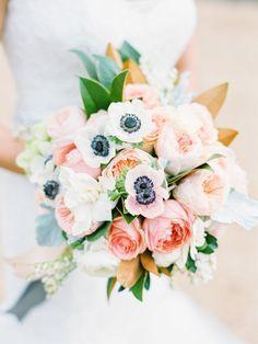 Wedding Bouquet Ideas: Colorful Anemone + Garden Rose - http://www.diyweddingsmag.com/wedding-bouquet-ideas-colorful-anemone-garden-rose/  #weddingbouquets   Photography: Michael + Anna Costa Photography   Floral Design: Blue Magnolia