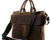 High Quanlity Men's Business Genuine Leather Briefcase Laptop Satchel Messenger Bag Handbag 7113B