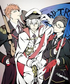 Rio Mason Busujima, Samatoki Aohitsugi and Jyuto Iruma Hot Anime Guys, Cute Anime Boy, I Love Anime, Susanoo, Fanart, Boy Pictures, Rap Battle, Amazing Cosplay, Manga Boy