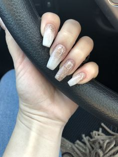 76 awesome ombre nails coffin glitter art designs in 2019 12 Related Aycrlic Nails, Nude Nails, Hair And Nails, Manicure, Violet Pastel, Acryl Nails, American Nails, Silver Nails, Gold Sparkle Nails