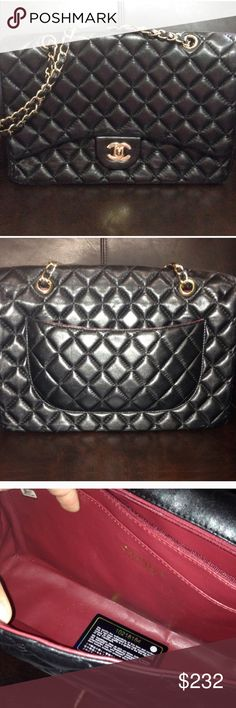 💕$35 dollars off 💕 Chain Quilted Flap Purse Not CC in great condition. Real Leather. 👜Price Firm👜 NO TRADES Bags Shoulder Bags