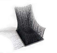 South Korean designer Il Hoon Roh created the Luno armchair by intertwining carbon fibre strings into a pattern designed to resemble the branches of trees. Unique Furniture, Furniture Design, 360 Design, Funky Chairs, Contemporary Chairs, Contemporary Design, Chair Design, Carbon Fiber, Interior Decorating