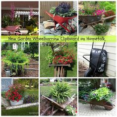 I have a new wheelbarrow ideas clipboard on Hometalk - Organized Clutter