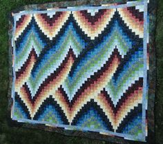 Bargello quilt is one of the most popular quilting techniques, which is based on the needlepoint patterns with the same name. Description from patternquilti.com. I searched for this on bing.com/images