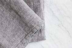 Grey Linen Pillowcase – Alder & Co