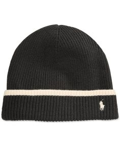 Mens Ribbed Beanie Hat - BLACK Lands End KvSoLCzSF1