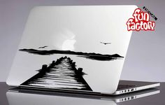 Pier Sunset Macbook Decal Sticker 0155mac by FunDecalFactory on Etsy