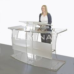 Premium Grand lectern designed and manufactured in the UK, made from clear acrylic