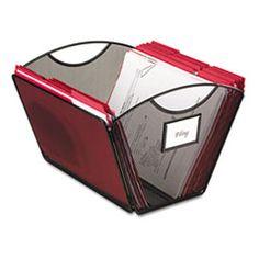 Safco® Onyx Mesh Desktop Tub File Storage Box, Letter, Black