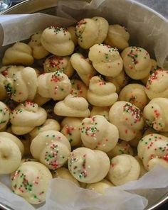 """Italian Christmas Cookies ~ These Italian Christmas cookies are also called """"wedding cookies"""" or """"Easter cookies"""". That's because these cookies are so great they are made for any holiday or gathering. They are super popular and always disappear first."""