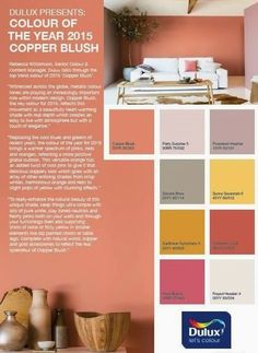 Billedresultat for copper blush Blush Living Room, Blush Bedroom, Bedroom Wall, Master Bedroom, Bedroom Decor, Yellow Paint Colors, Yellow Painting, Wall Colors, Colours