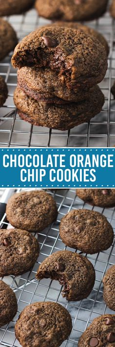 Chocolate orange chip cookies are rich and chocolate-y with the perfect hint of orange flavor! These are like a chocolate orange in cookie form.