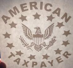 Three percenter American Taxpayer Decal,Sticker , tea party, Second Ammendment #UnbrandedGeneric